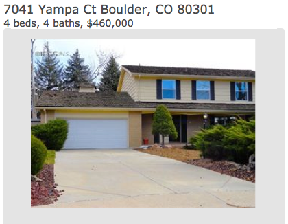 Open House 12/9/12 Boulder Colorado